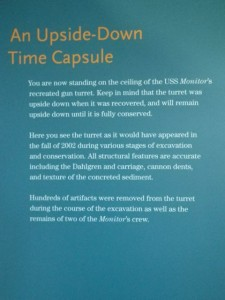 an upside down time capsule