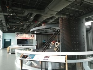 replica of the mechanism that made the turret spin