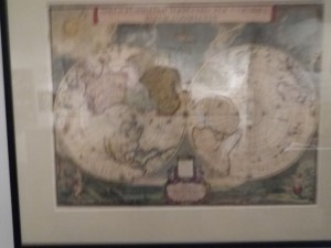 a 17th-century map of the world (no Antartica)