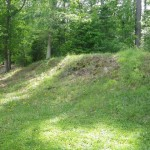 these berms were built by Civil War soldiers