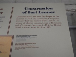 The construction of the fort took about 10 years. It was named after Charles Lennox, duke of Richmond and Lennox, Governor-in-Chief of British North America from 1818 to 1819.