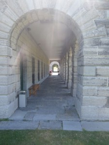 These arched walkways are my strongest memory of the visits to the fort as a child