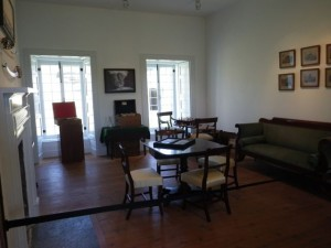 The games room where officer played cards, backgammon, chess, other games, and drank more alcohol.