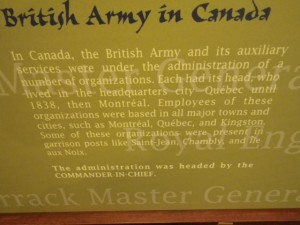 How the British Army was organized in Canada, basing itself in all the major cities.