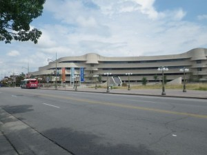 on Laurier Avenue in Hull looking at the Museum of Civilization