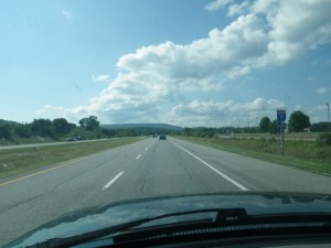 driving north on autoroute five just out of Hull at the Chelsea limits; this was my commute for several years
