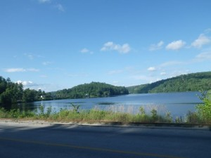 the Gatineau River from main street in Wakefield