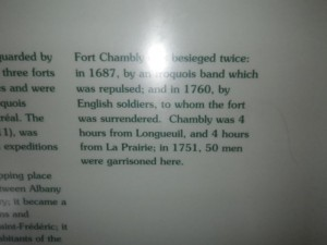 at the time, it took four hours to go from Chambly to Longueuil (now about 20 minutes!)