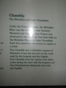 Fort Chambly was the last defensive outpost of Montreal