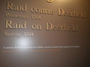the raid on Deerfield was in 1704