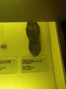 a 17th century shoe