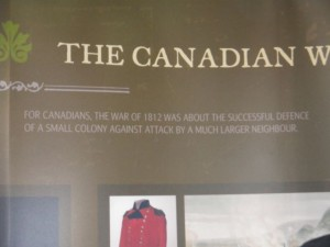 """For Canadians, the War of 1812 was about the successful defense of a small colony against attack by a much larger neighbor."""