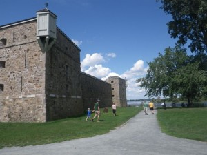 the rear of the fort (with fake watchtowers)