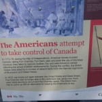 In 1775-1776, during their War of Independence, the Americans invaded Canada. In 1812, we finally had enough and burned down their White House. :)