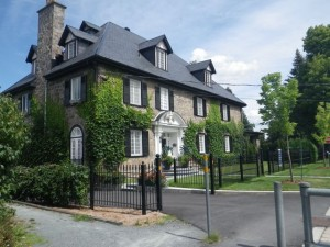 The Ducharme residence (formerly a garrison, then converted to a stately home)