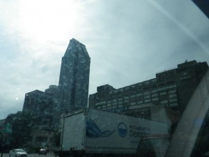 downtown Montreal, place Ville-Marie (building that looks like a carpenter's pencil)