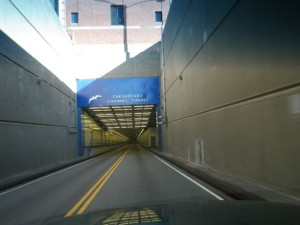 entrance to the Chesapeake Channel tunnel