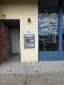 I'm pretty sure we don't have ATMs stuck to the side of buildings out in the open like this in Canada