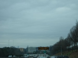 First glimpse of Atlanta.