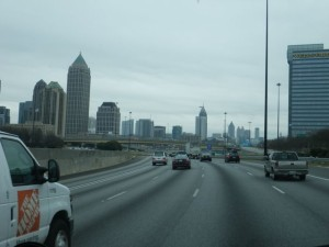 Cruising through downtown Atlanta, the pace and traffic relaxed enough to enjoy the scenery.