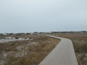 Boardwalk leading up to the beach.