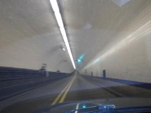 This tunnel felt like a subway tunnel!