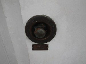 Pulling this knob makes a bell ring inside.