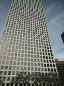 This 50-story tall building used to be Shell Headquarters, which have now moved to Houston, Texas.