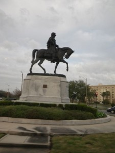 Statue of Beauregard, the guy who fired the first shot of the US Civil War.
