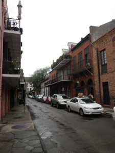 Typical side street of the French Quarter.