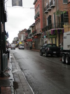 Bourbon Street was pretty quiet at 10AM, but there was some music to be heard.