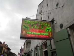 Tropical Isle, home of the hand grenade, the most potent NOLA drink.