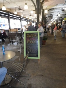 There were a few gator offerings, but I'd done my research and knew that it's not local food and that NOLA is not the best place to try it. Boudin is blood sausage.