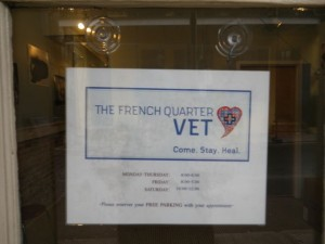 You can reserve parking to visit the French Quarter vet.