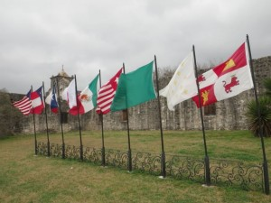 The nine flags of Goliad