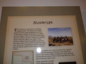 The area was settled by tejanos, cattle ranchers.