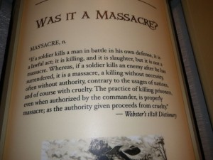 Whether the killing of the soldiers was a massacre or not depended on which side you were on!