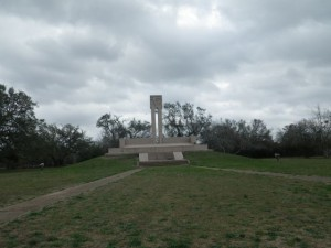 Memorial to James Fannin, a leader of the Texas Revolution, and his men who were massacred at Goliad.