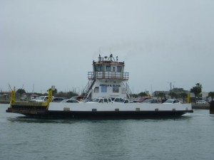 Ferry heading for Aransas Pass
