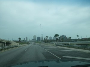 Entering Corpus Christi.