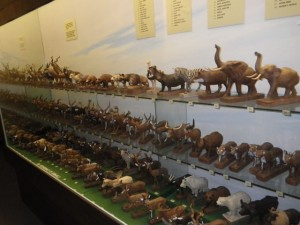 Carvings of many of earth's mammals.