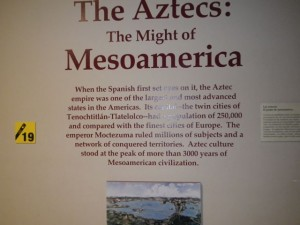 The Aztecs had a civilization that compared to that in Europe.
