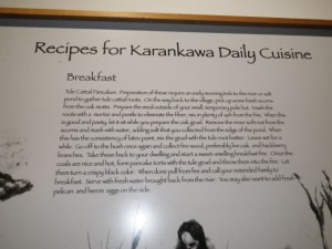 I liked this exhibit that showed how a typical daily menu would have been prepared.