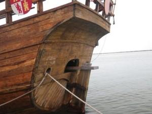 Columbus-style ship.