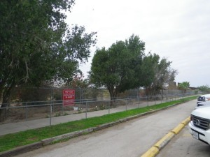 The infamous fence that separates Mexico from the USA.