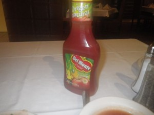 I didn't know Del Monte makes ketchup! Different from Heinz, but very tasty!
