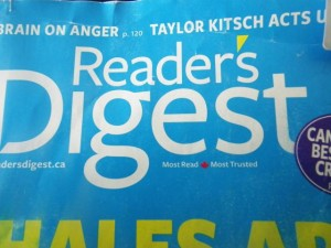 The July 2012 edition of the Canadian Reader's Digest.