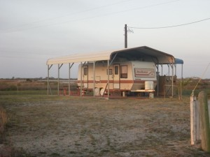 I'm thinking a structure like this could be good for my property in case I ever have to leave the rig there in the winter (not with me in it!). I could wrap the sides in heavy plastic for further protection from the elements.