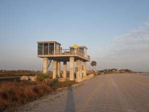The most bizarre structure on the beach.