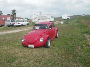 Cute VW bug for sale, but I've been told that such a car would be much too light to tow.